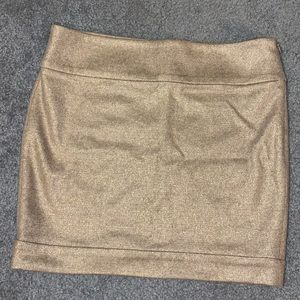 DVF metallic gold wool mini skirt